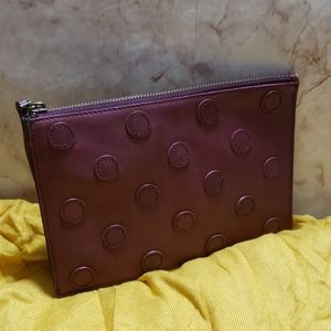 Madewell red wine zip wallet
